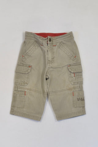 Old Navy Red Trim Grey Cargo Pants Boys 6-12 months