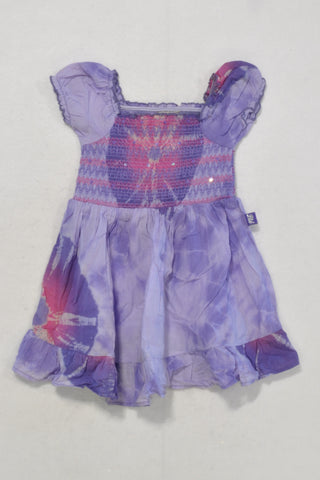 Ltd. Purple Tie Dye Dress Girls 6-12 months