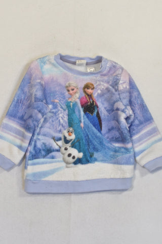H&M Purple Frozen Fleece Top Girls 6-9 months