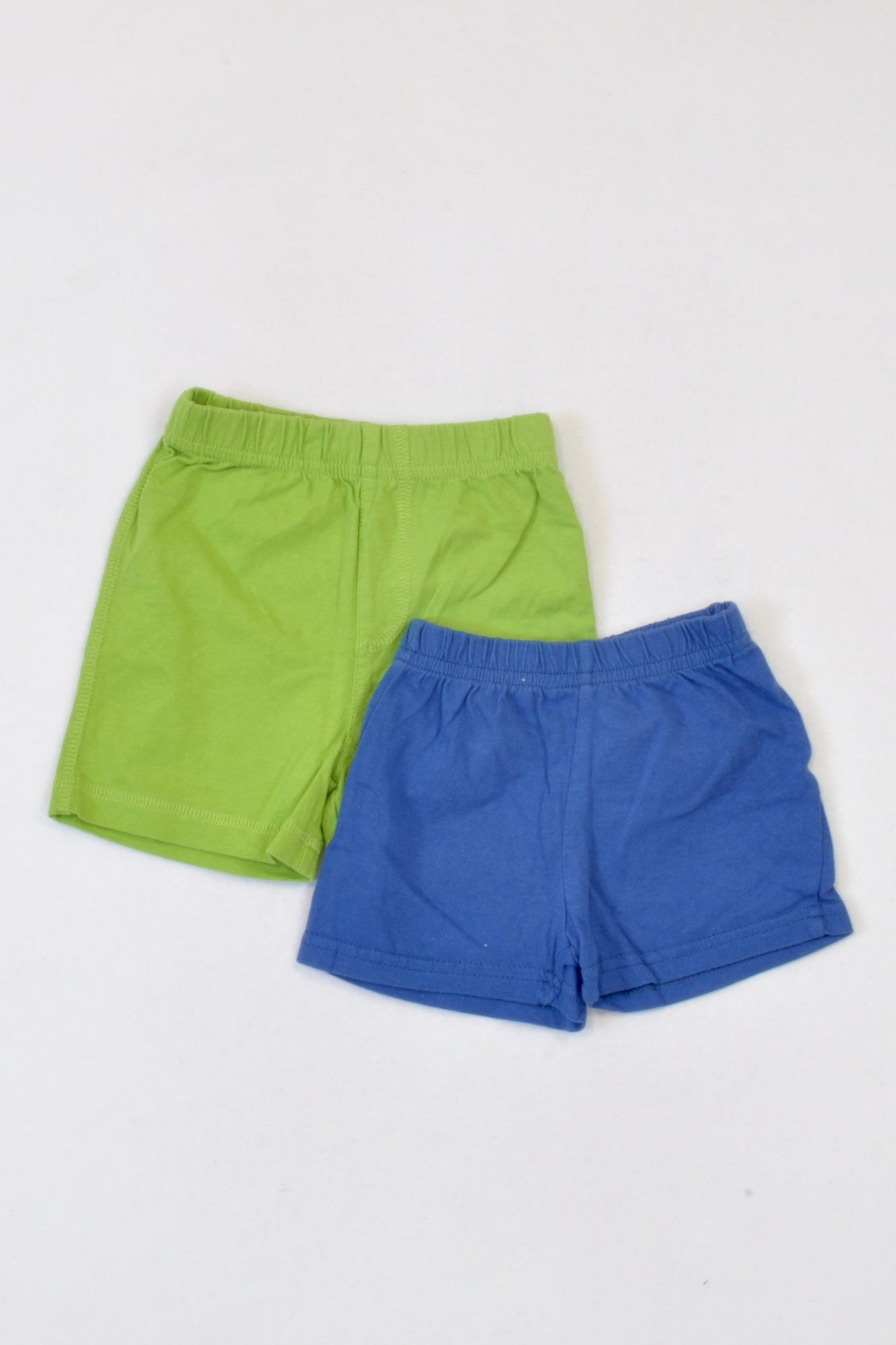 Pick 'n Pay 2 Pack Blue & Green Shorts Boys 3-6 months