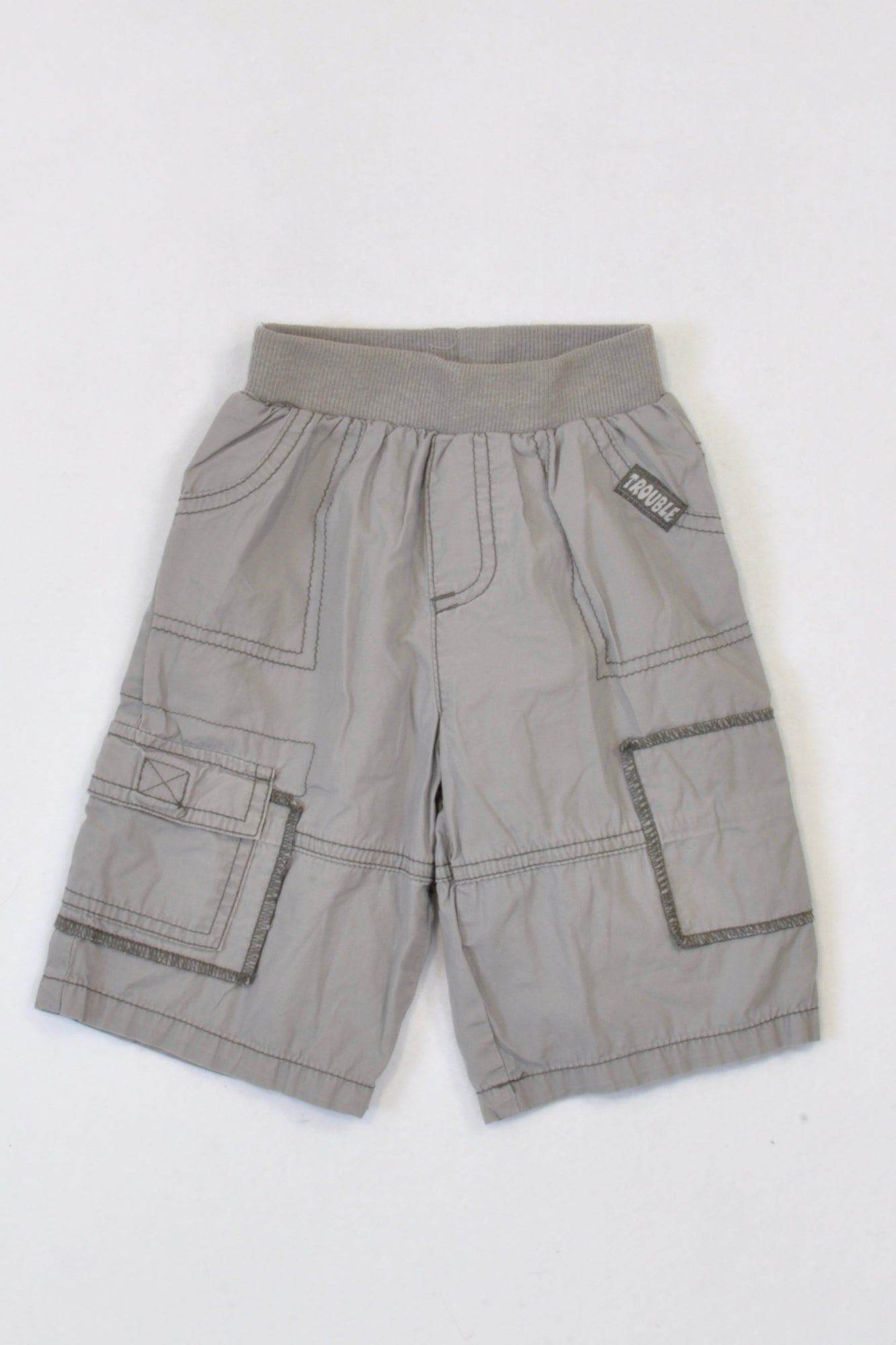 Ackermans Grey Banded Lightweight Pants Boys 12-18 months