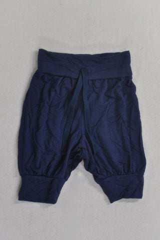New Woolies Navy Fold Harem Pants Girls 18-24 months