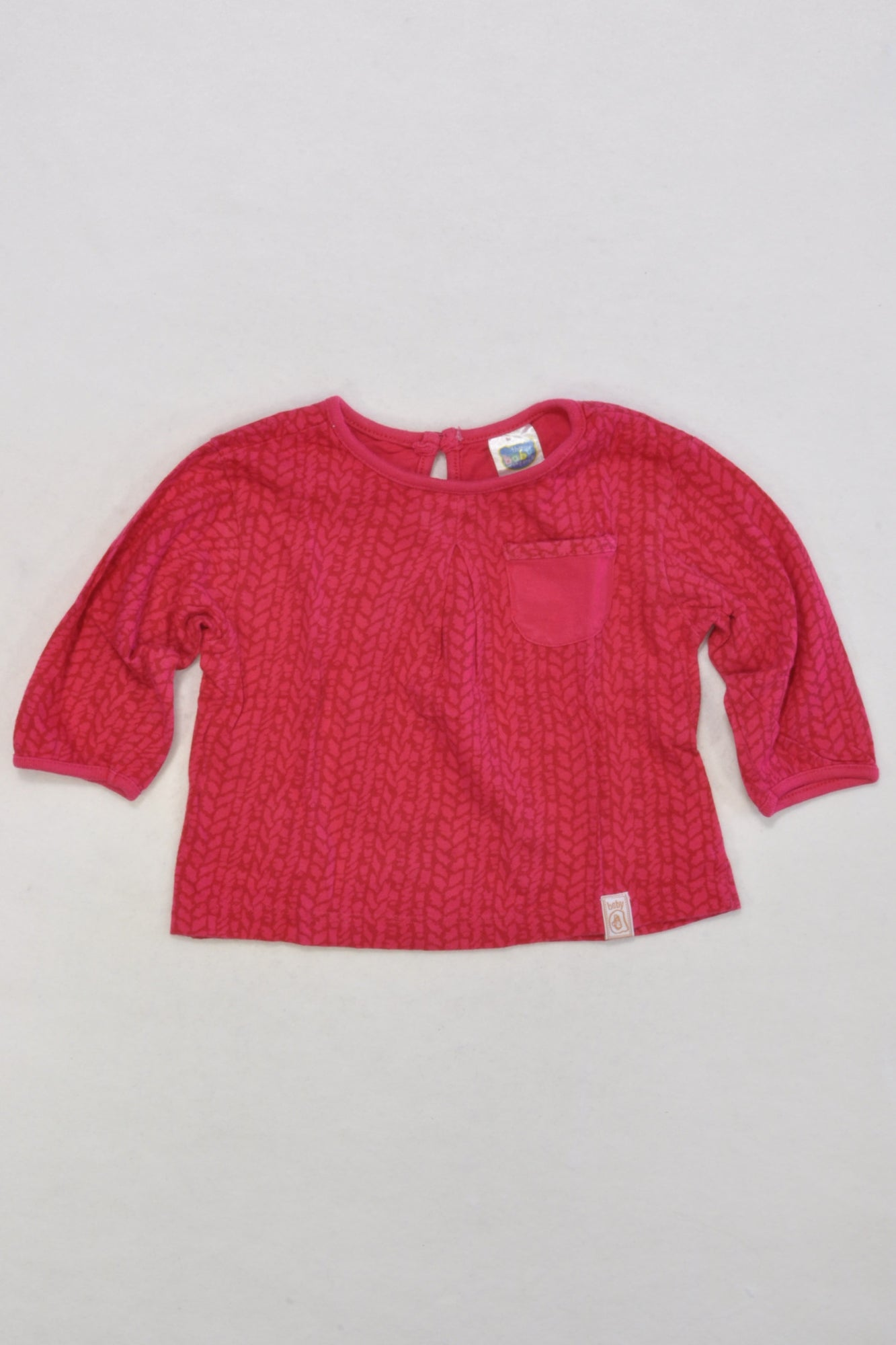 Pink Patterned Top Girls 3-6 months