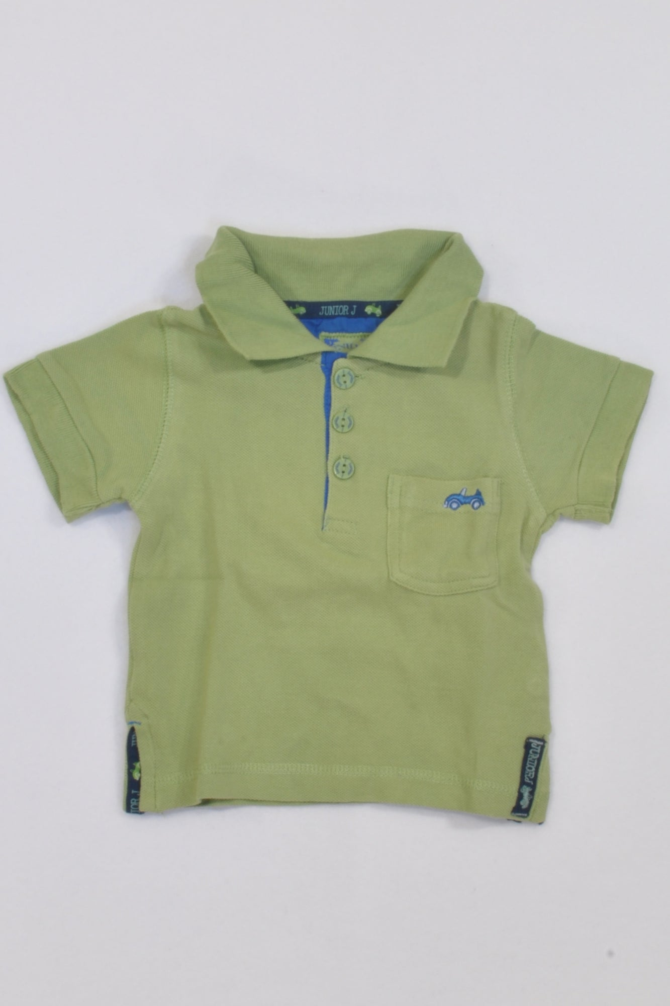Junior J Green Golf Shirt Boys 9-12 months