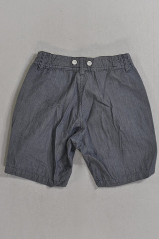 Woolies Blue Pin Stripe & Detail Button Shorts Boys 2-3 years