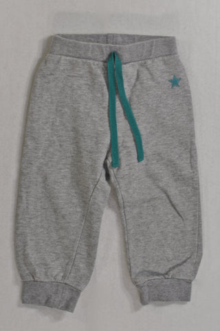 RT Grey Teal Star Track Pants Boys 18-24 months