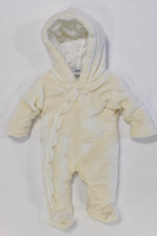 Thick Fleece Heart Onesie Unisex N-B Preemie