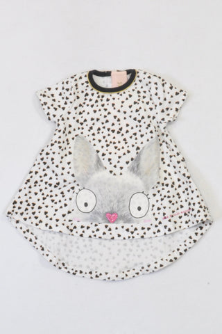 e45eccb5037 Mothercare Black Heart Bunny Dress Girls N-B