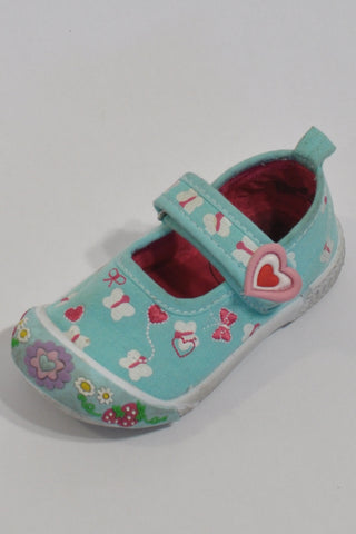 Turquoise Butterfly Shoes Girls 12-18 months
