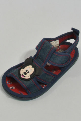 Denim Mickey  Sandals Unisex 12-18 months