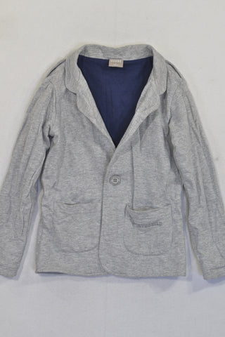 Earth Child Grey Cotton Jacket Unisex 6-7 years