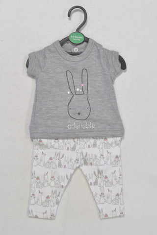 New Adorable Bunny Outfit Girls 0-3 months