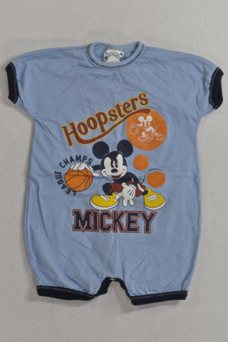 Blue Hoopsters Mickey Romper Boys 6-12 months