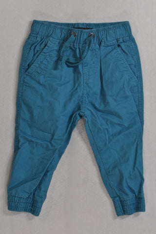 Turquoise Chino Ankle Cuff Pants Boys 1-2 years