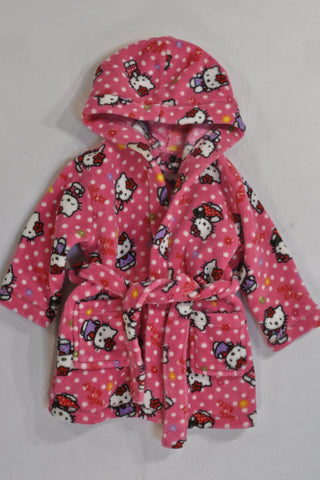 Woolies Pink Hello Kitty Dressing Gown Girls 12-18 months