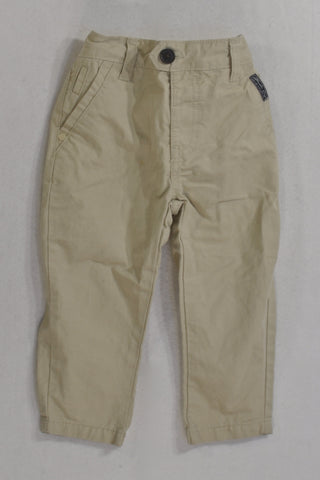 Woolies Beige Chino  Pants Boys 18-24 months