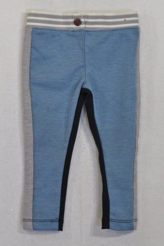 Cotton On Blue Elasticated Thick Jeggings Girls 12-18 months