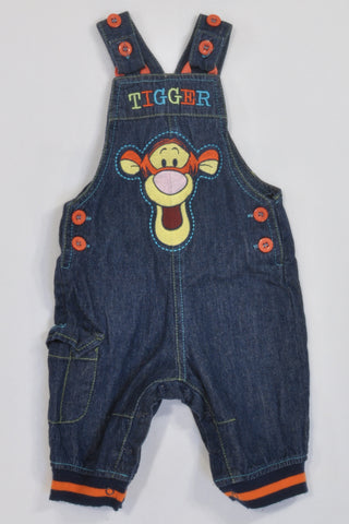 Denim Tigger Embroidered  Dungarees Unisex 0-3 months