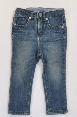 GAP Stone Washed Skinny Leg Jeans Girls 12-18 months