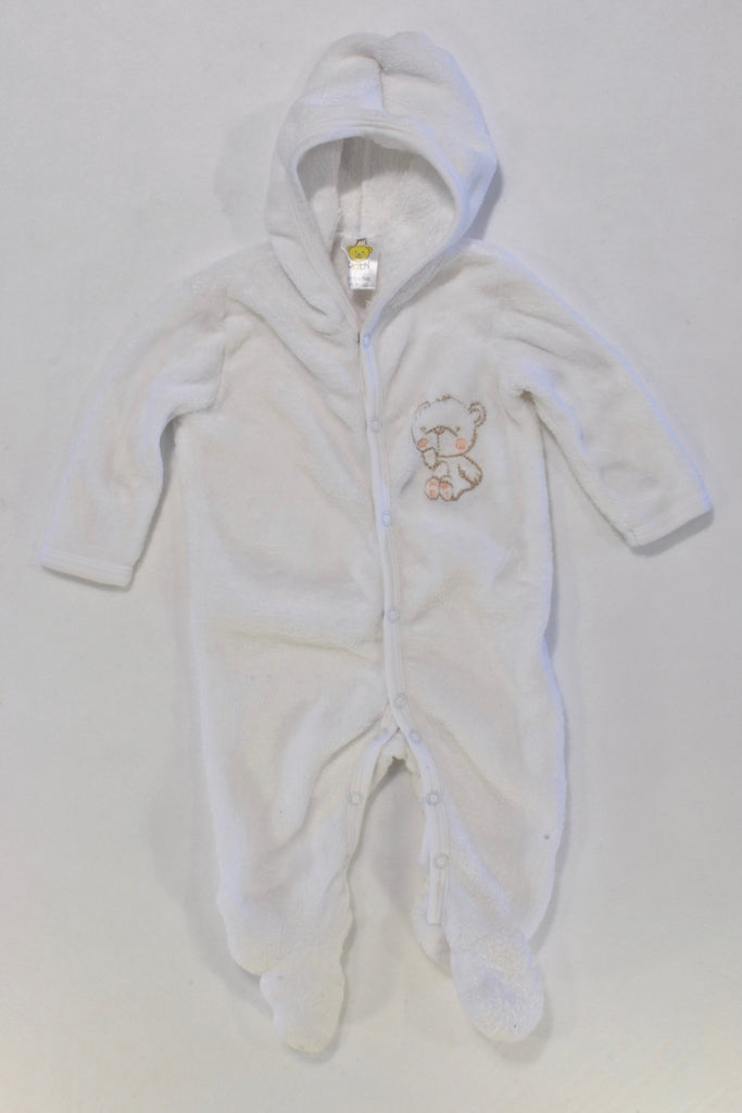 White Bear Fleece Onesie Unisex 0-3 months