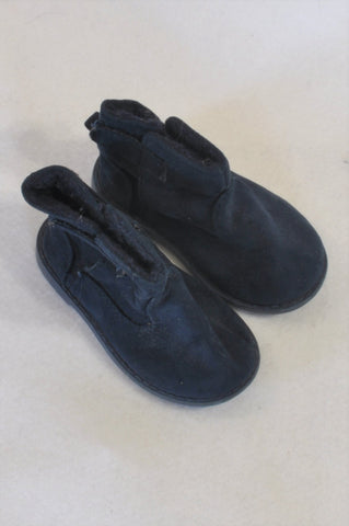 0c4426d05ee9 Woolworths Size 3 Blue High Top Suede Boots Unisex 9-12 months