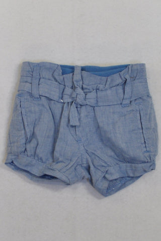Cotton On Denim Cotton Banded  Shorts Girls 0-3 months