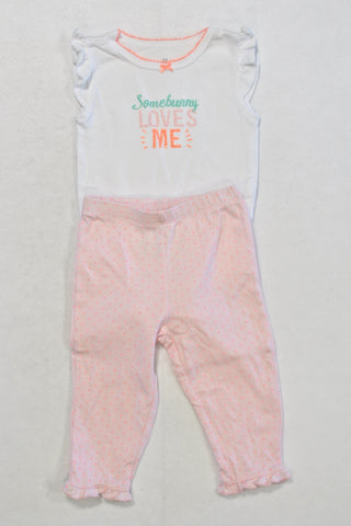 Carters Somebunny Loves Me Outfit Girls 9-12 months