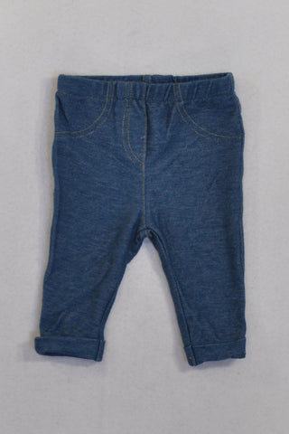 Denim Stretch Jeggings Girls 0-3 months