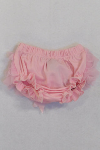 Pink Tulle and Bow Bloomers Girls N-B