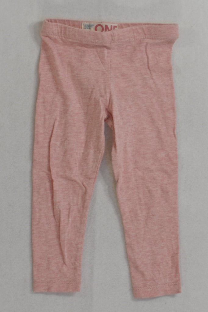 Cotton On Pink Speck Leggings Girls 12-18 months