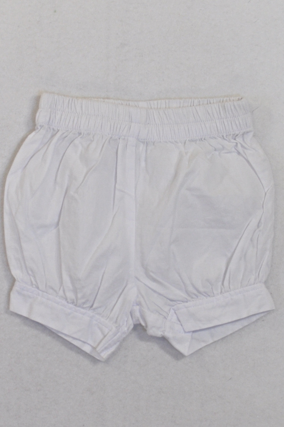 White Bubble Shorts Girls 0-3 months