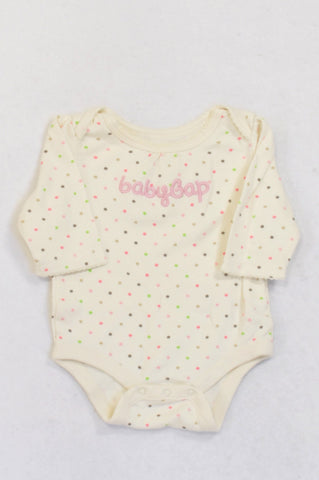 GAP Soft Yellow Dotty Baby Grow Girls 0-3 months