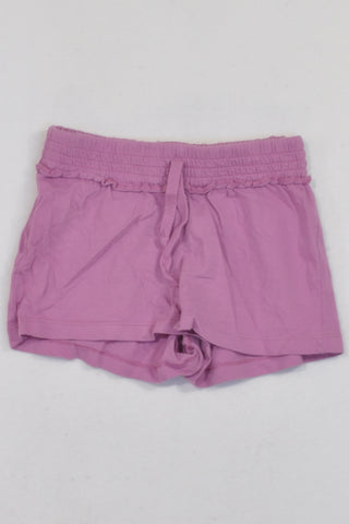 Woolies Purple Banded Play Shorts Girls 5-6 years