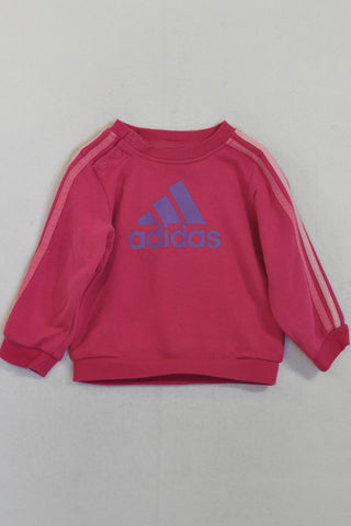 Adidas Pink & Purple Jersey Girls 6-9 months