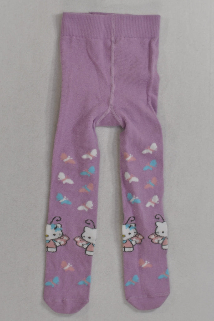 New Purple Hello Kitty Butterfly Stockings Girls 6-12 months