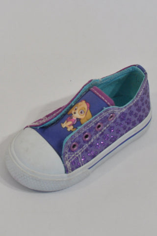 Purple Paw Patrol Glitter Shoes Girls 2-3 years