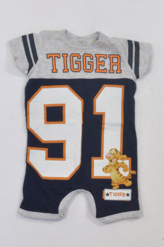 Grey & Navy Tigger 91 Romper Boys N-B
