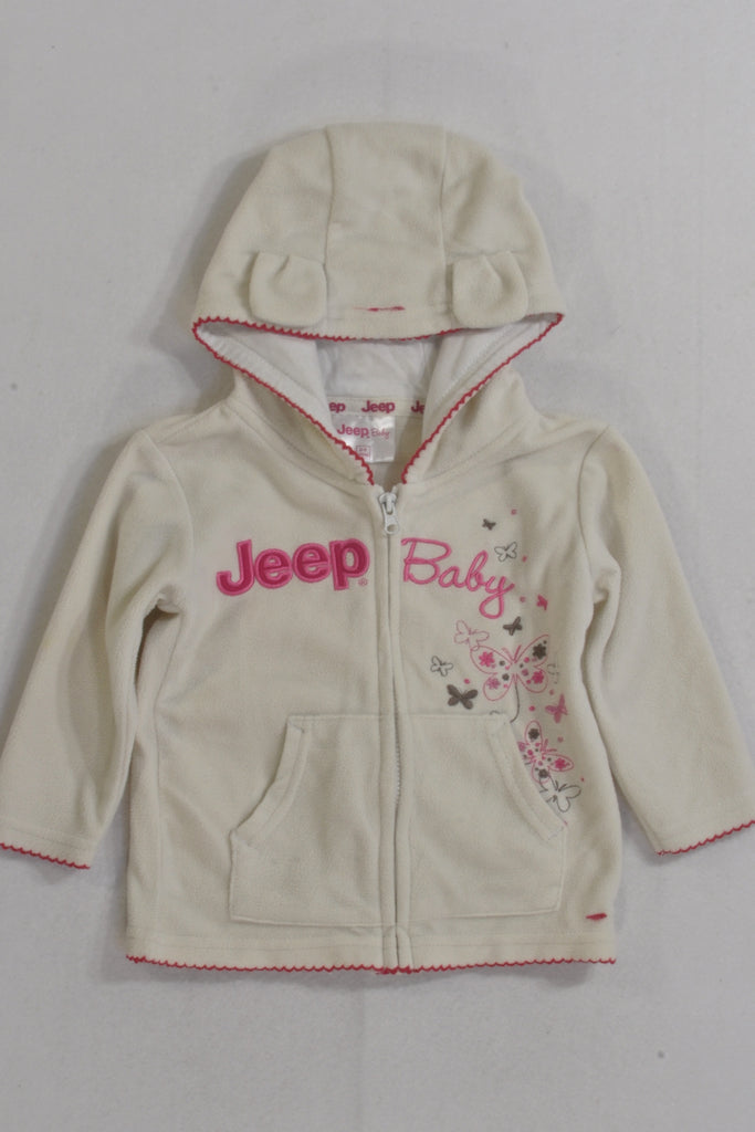Jeep Baby Cream Butterfly Hoodie Girls 6-9 months