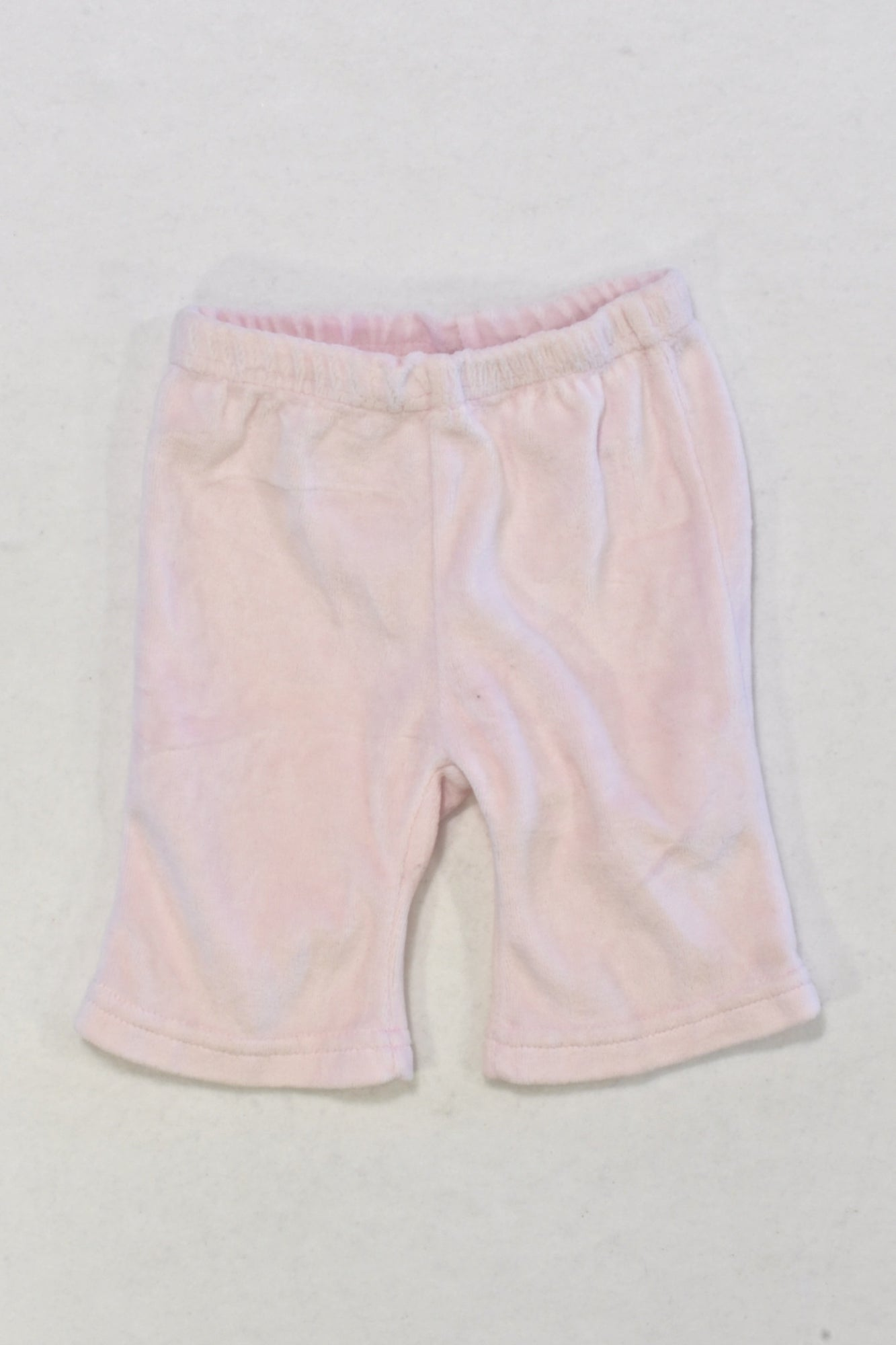 Pink Velour Pants Girls 0-3 months
