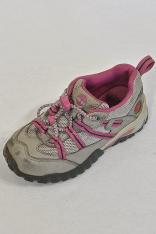 Timberland Grey & Purple Trail Shoes Girls 3-4 years