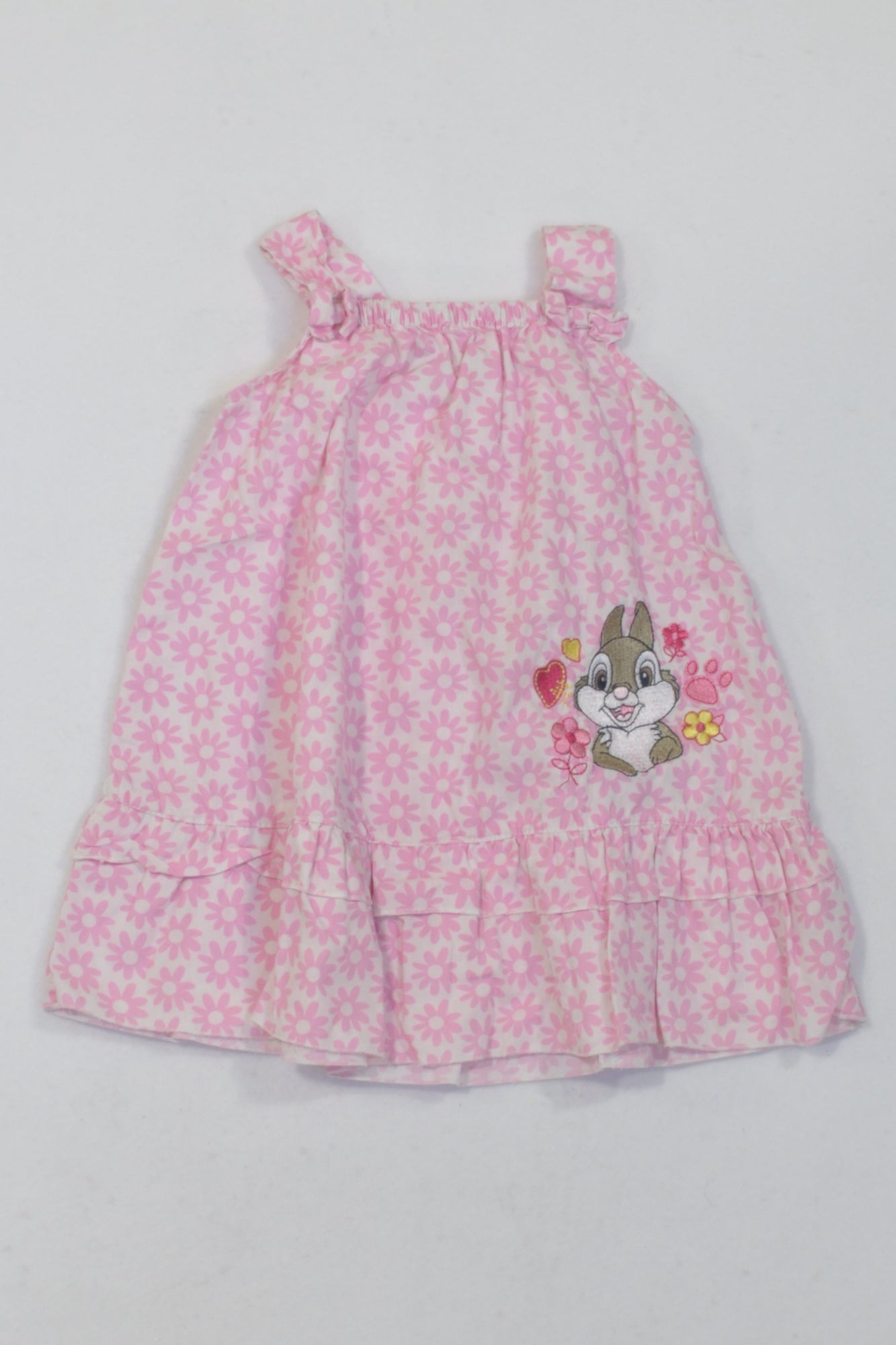 White & Pink Daisy Thumper Dress Girls 3 6 months – ce More