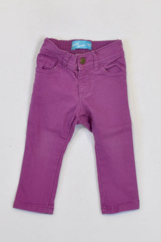Old Navy Basic Purple Skinny Leg Jeans Girls 12-18 months