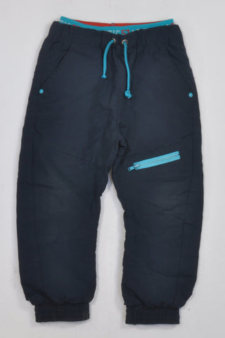 Navy Banded & Lined Athletic Pants Boys 3-4 years