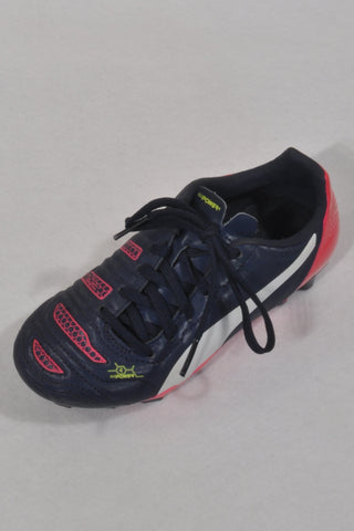 Puma evoPOWER 4 Navy & Hot Pink Soccer Boots Unisex 4-5 years