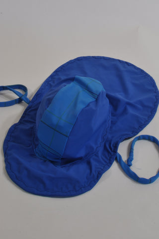 New Two-Tone Blue Swim Hat Boys 6-12 months