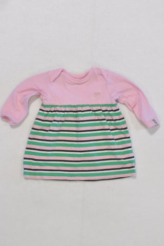 Cotton On Pink and Green Dress Girls N-B