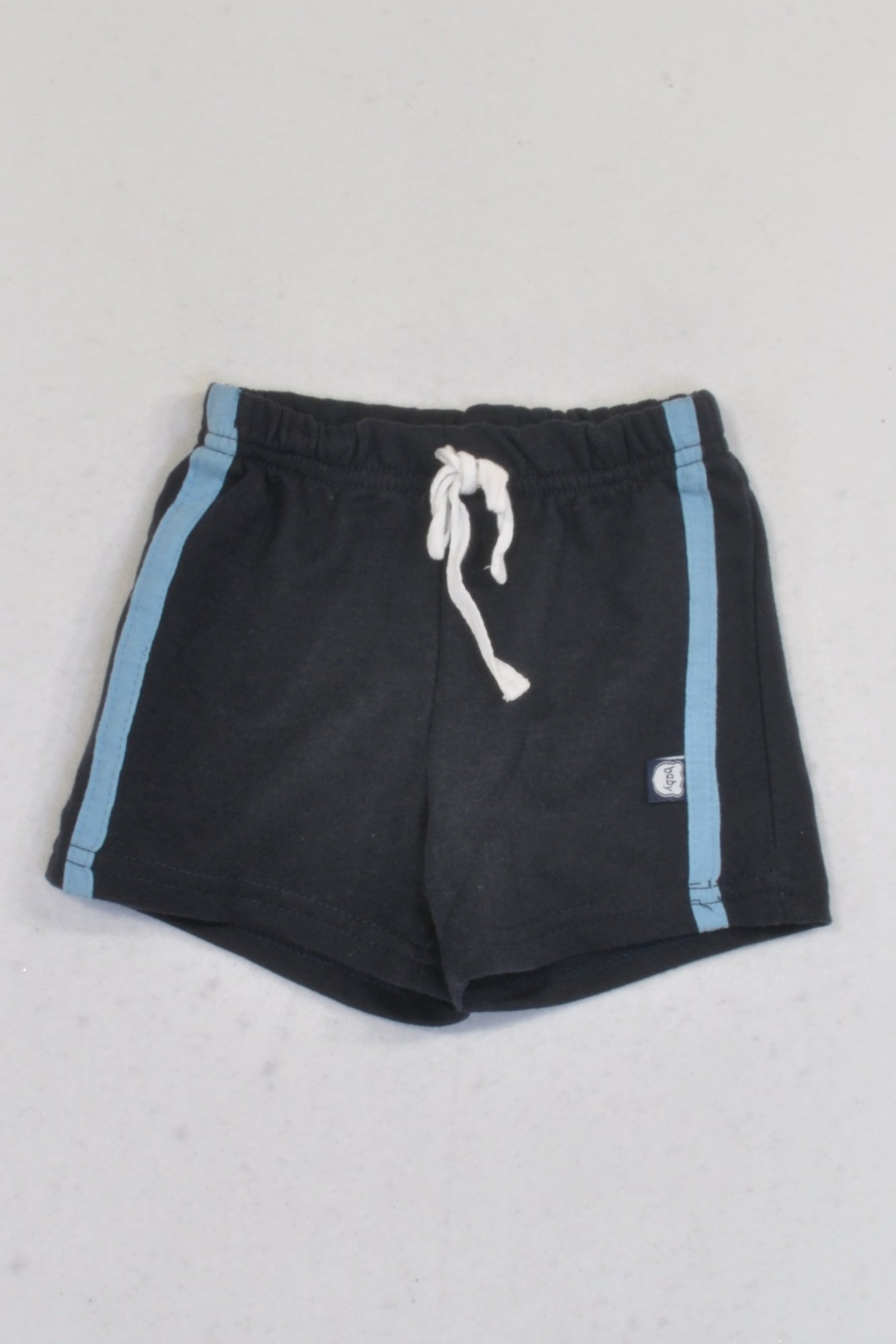 Ackermans Navy & Blue Stripe Play Shorts Boys 0-3 months