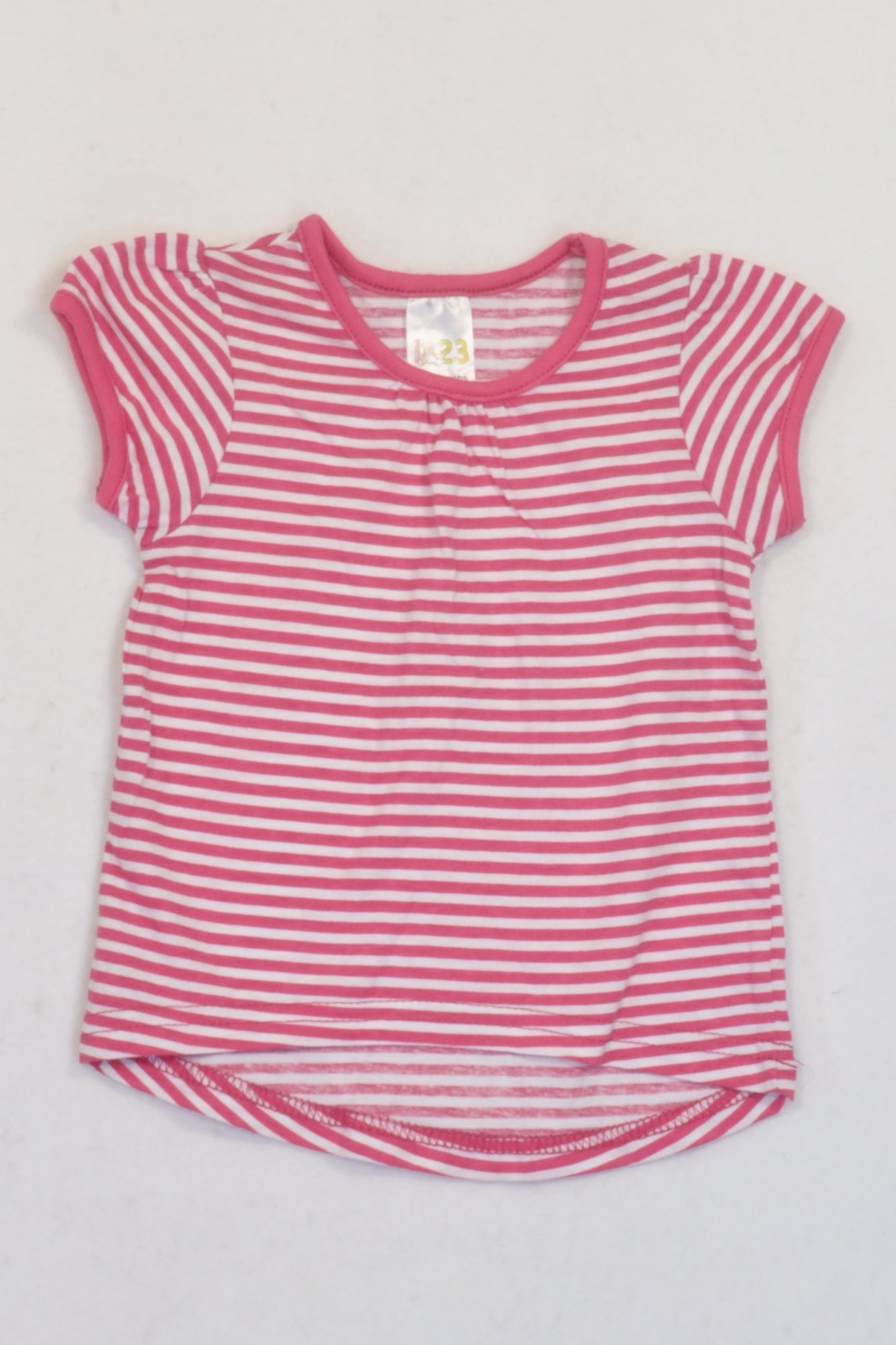 Edgars Pink & White Stripe T-shirt Girls 6-9 months