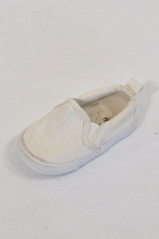 H&M White Slip-On Shoes Unisex 6-9 months