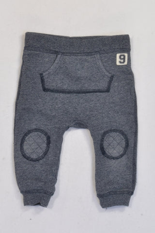 H&M Navy Speckled & Kangaroo Pouch Harem Pants Boys 3-6 months